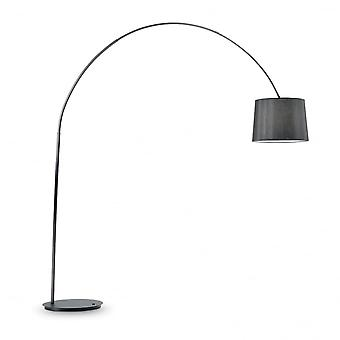 Ideal Lux Dorsale Modern Bending Arch Floor Lamp With Matching Shade