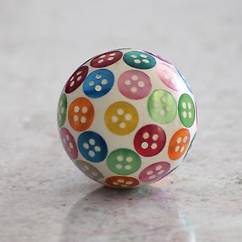 Multi Coloured Button Resin Cupboard Knob