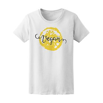 Word Vegan With Lemon Background Tee Women's -Image by Shutterstock