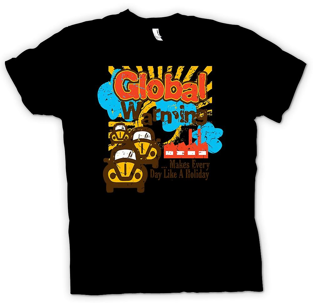 Mens T-shirt - Global Warming - Make Everyones Day A Holiday