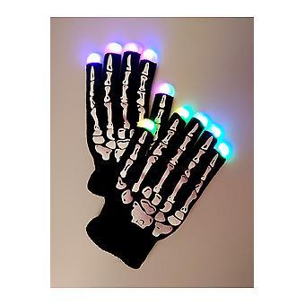 Handschoenen lichtgevende Led handschoenen skelet