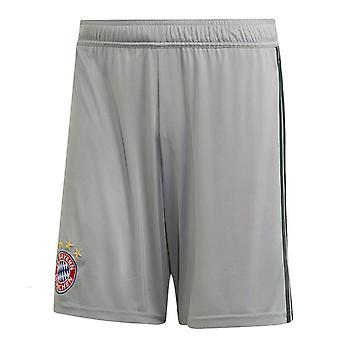 2018-2019 Bayern Munich Adidas Home Goalkeeper Shorts (Grey)