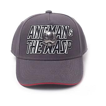 Marvel Comics Ant-man and The Wasp Embroidered Logo Curved Bill Cap Grey/Red