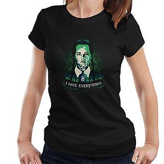 Addams Family Wednesday Addams I Hate Everyone Women's T-Shirt
