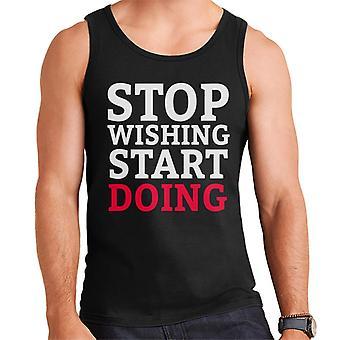 Stop Wishing Start Doing Gym Inspiration Men's Vest
