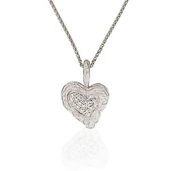 Orphelia Silver 925 Chain With Pendant Heart Zirconium  ZH-7082