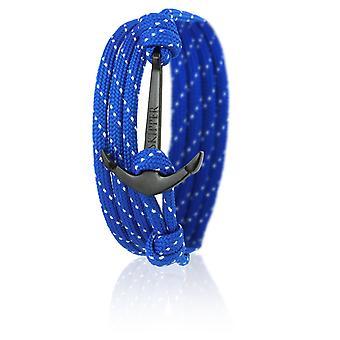 Nylon blue anchor 6641 glitter skipper anchor bracelet with black