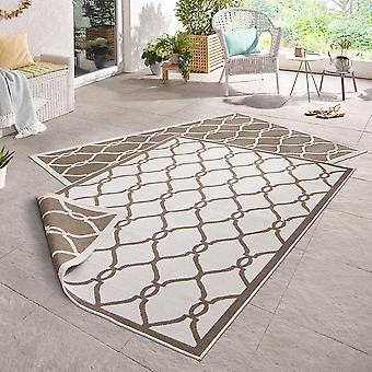 Dreje tæppe Rimini brun fløde i- & udendørs