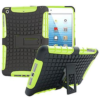 Hybrid outdoor protective cover Case Grün for Apple iPad 2 / 3 / 4 Pocket