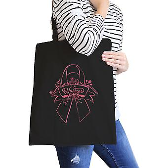 Kriger Breast Cancer Awareness lerret Tote søte rosa sløyfe Design