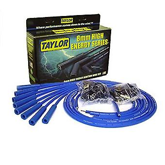 Taylor Cable 60655 Blue Universal 8mm High Energy Resistor Core Ignition Wire Set