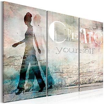 Canvas afdrukken - Maak jezelf - drieluik
