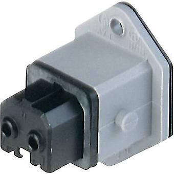 Mains connector STAKEI Series (mains connectors) STAKEI Socket, vertical vertical Total number of pins: 2 + PE 16 A Grey Hirschmann STAKEI 2 1 pc(s)
