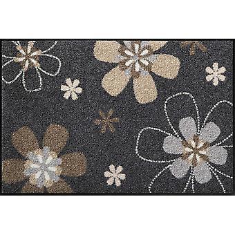 Florentina tvättbara golvmatta salong lion blomma motiv