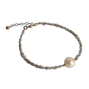 Diamond bracelet diamonds gray diamond and cultured pearl bracelet gold plated
