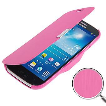 Mobile phone case pouch for Samsung Galaxy S4 mini i9190 pink brushed