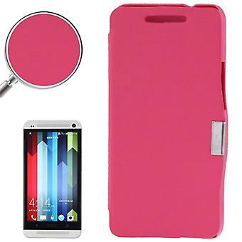 Cell phone cover case for HTC one / M7 pink brushed