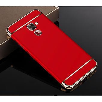 Telefon komórkowy etui dla LeEco Le 2 zderzak 3 w 1 pokrywa chrom sprawa czerwony Bowl