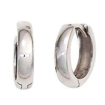 Hoops around ear tires 375 gold white gold earrings Keywork 11.7 mm