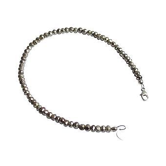 Silver pyrite bracelet bracelets gemstone bracelet pyrite bracelet 925 Silver