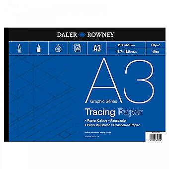 Daler Rowney Tracing gummiert Pad 60gsm A3
