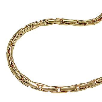 Necklace round cobra chain gold plated 50cm
