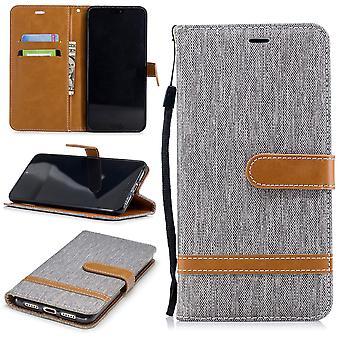 Huawei P20 par spécialiste de carte Housse Etui téléphone portable sac protecteur cas cas gris portefeuille