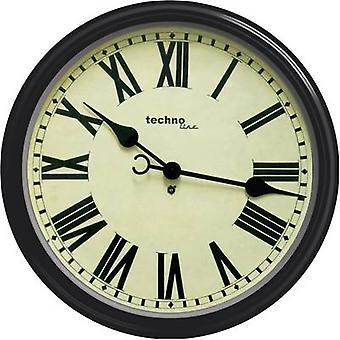 Techno Line WT 7050 Quartz murale horloge 50 cm x 13 cm noir