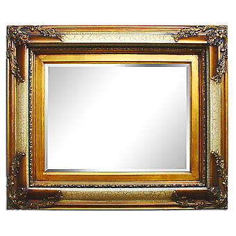 Large mirror in gold, dimensions 70x80 cm