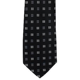 Michelsons of London Dash Diamonds Polyester Tie - Black