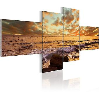 Artgeist Canvas Print Sunset Over The Sea (Decoration , Pictures and frames , Canvases)