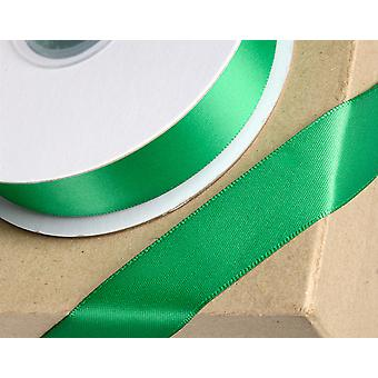 15mm Emerald Green Satin Ribbon for Crafts - 25m | Ribbons & Bows for Crafts