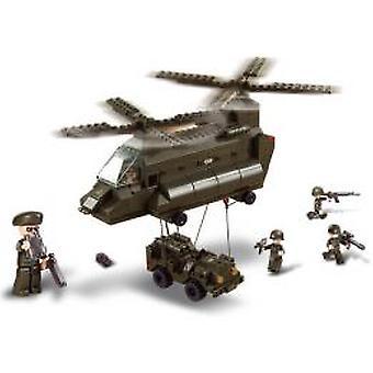 Sluban B6600 elicottero Chinook + Jeep