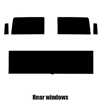 Pre cut window tint - Hummer H2 SUT - 2004 to 2009 - Rear windows