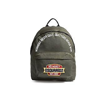 DSQUARED2 NO MERCY PATCH GREEN BACKPACK