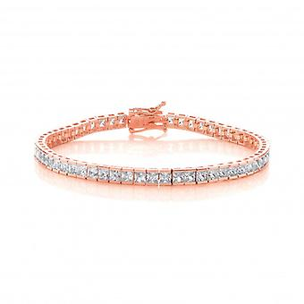 Cavendish franska Silver-, guld- och fyrkantig CZ Tennis armband