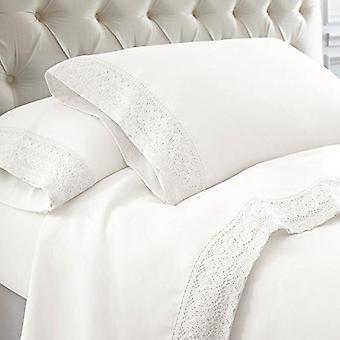 1000 thread Count - 100% Egyptisch katoen gehaakte kant Bed Sheet Set