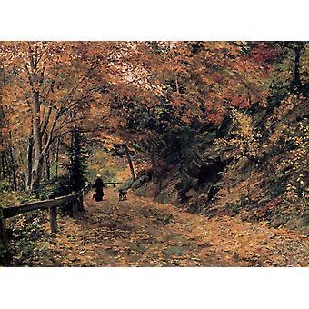 Caen hojas, Olga Wisinger-Florian, 50x40cm