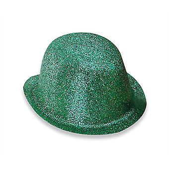 Glitter Green Plastic Bowler.