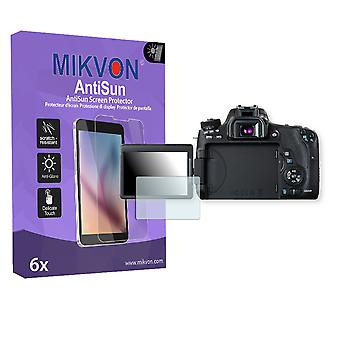 Canon EOS 760D Screen Protector - Mikvon AntiSun (Retail Package with accessories)