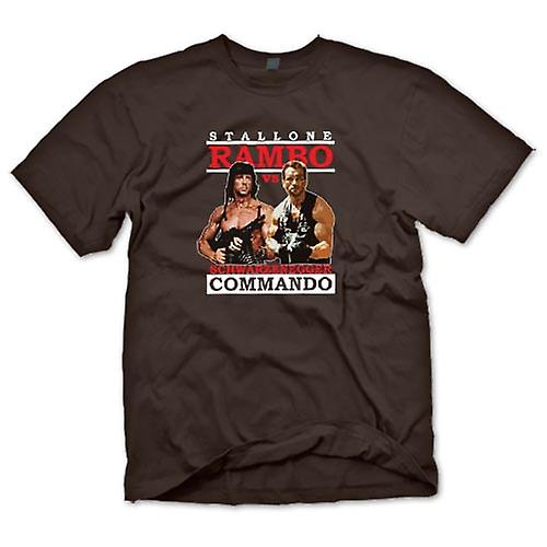 Mens T-shirt - Rambo Or Commando - Action - Hero