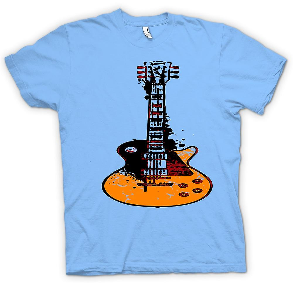 Mens t-skjorte - Gibson Les Paul gitar Rock Blues - musikk