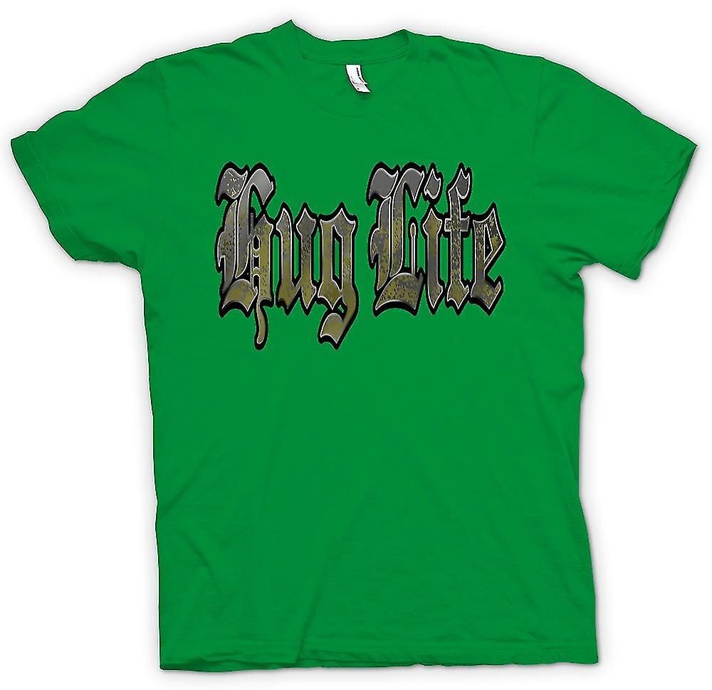 Mens T-shirt - Hug Life - Gangster - Funny