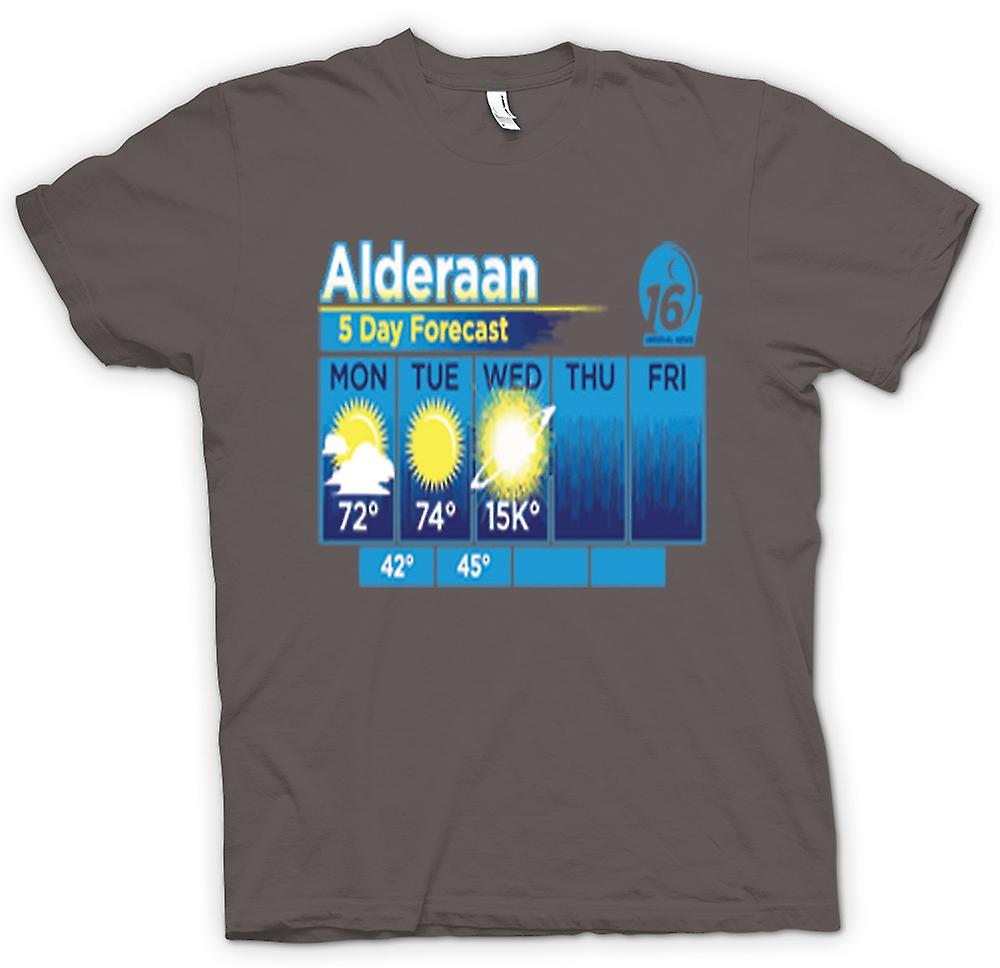 Womens T-shirt - Alderaan 5 dagen weer Forcast - Star Wars