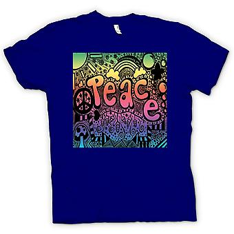 Womens T-shirt - Peace Hippy Psychedelic Design