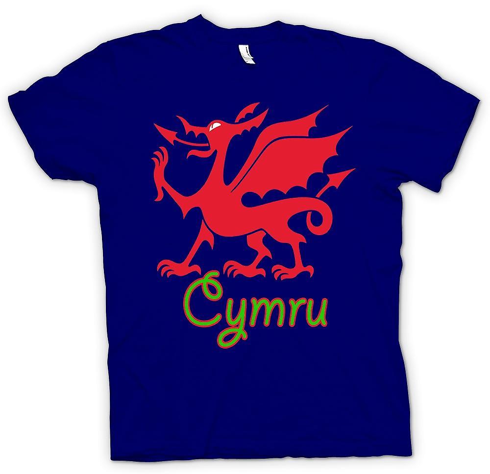 Mens t-shirt - gallese Dragon - Cymru
