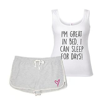 I'm Great In Bed I Can Sleep For Days Pyjamas