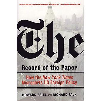 Referat af papiret: New York Times på USA 's udenrigspolitik og folkeretten, 1954-2004