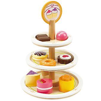 Jeu d'imitation enfant jeux jouets Plateau de desserts 0102093