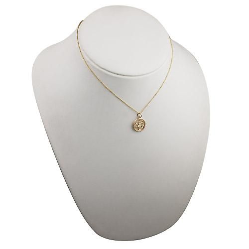 9ct Gold 11mm pierced Pisces Zodiac Pendant with a cable Chain 16 inches Only Suitable for Children